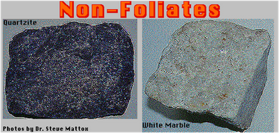 Foliated and Non-Foliated Metamorphic RockFoliated And Nonfoliated Metamorphic Rocks